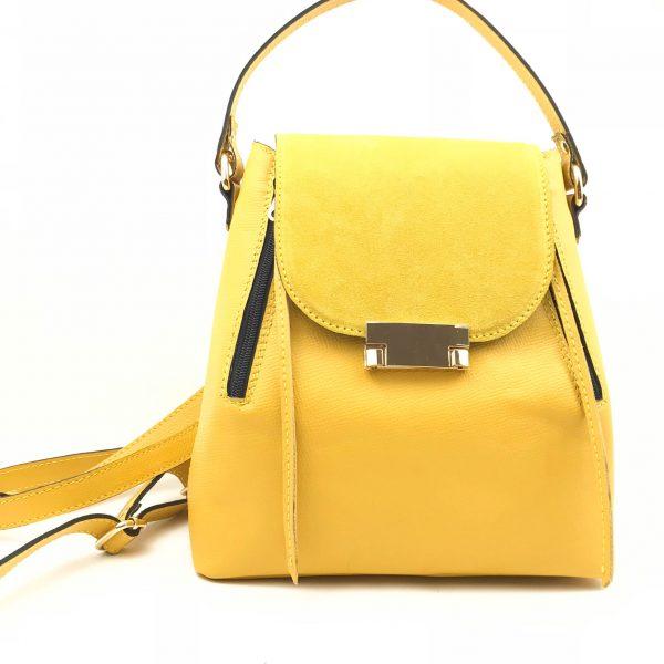 Rucsac/geanta din piele naturala OSCAR cu velur