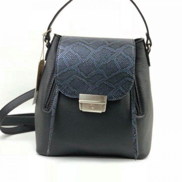 Rucsac/geanta din piele naturala OSCAR cu snake/croco