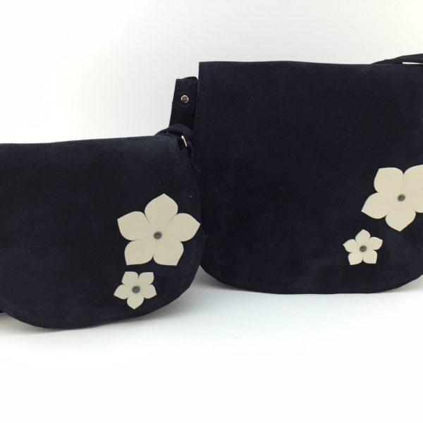 Set posetute mama fiica Georgia velur bleumarin-spring flower